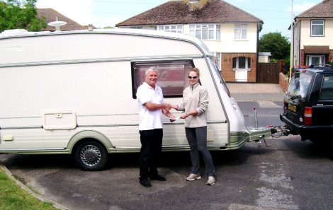 My new caravan! (And that dratted Jeep....)