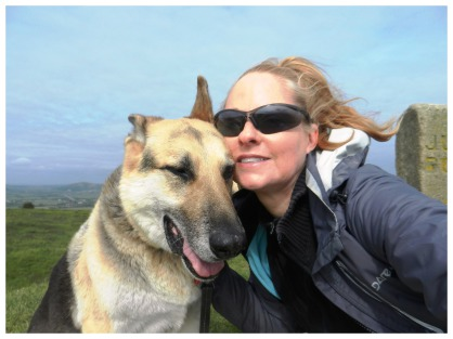 Gina and Jerry on Brent Knoll, Somerset